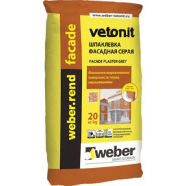 Weber.rend facade Шпатлевка серая (20 кг)