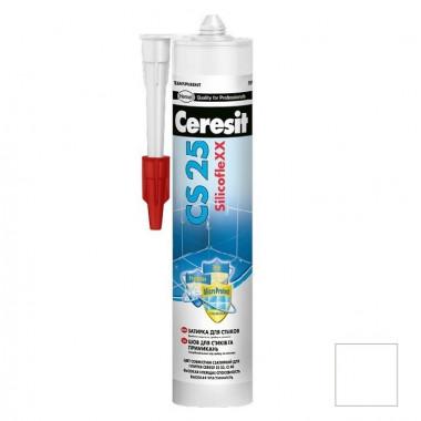 Затирка-герметик силиконовая Ceresit CS 25 белая 0,28 л - купить оптом, в розницу