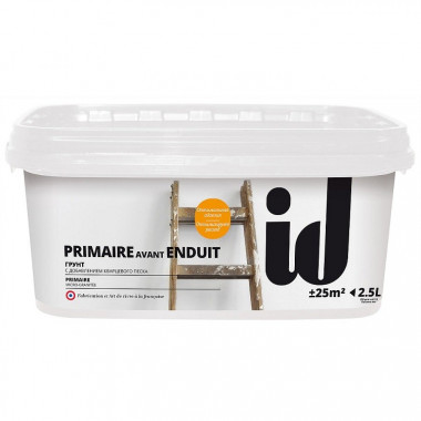 Грунтовка ID Primate Avant Enduit кварцевая 2,5 л - купить оптом, в розницу