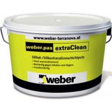 Weber.Pas ExtraClean 2 mm «Шуба» Декоративная силикатно-силиконовая фасадная штукатурка (25 кг)