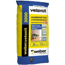 Weber Vetonit «3000» Наливной пол суперфинишный (20 кг)
