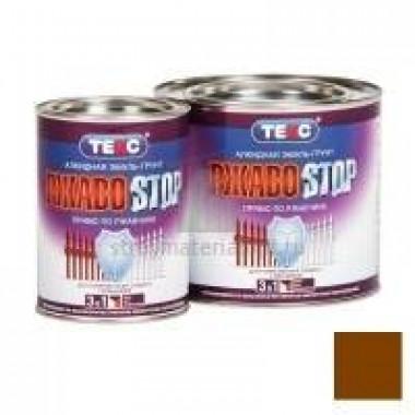 Грунт-эмаль ТЕКС Ржавostop коричневая 0,9кг (14шт/уп) - купить оптом, в розницу