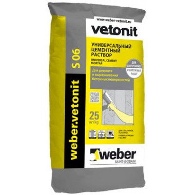 Weber Vetonit S 06 Универсальный цементный раствор (25 кг)