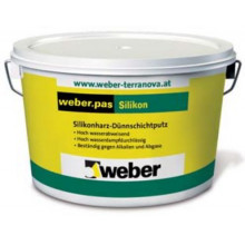 Weber.Pas Silikon Шуба 1.5 mm Декоративная силиконовая штукатурка (25 кг)