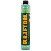 Пена KRAFTOOL  KRAFTFLEX PREMIUM PRO  профессиональная полиуретановая, для монтажного пистолета, всесезонная, SVS, 750 мл