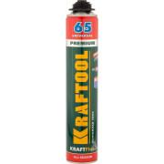 Пена KRAFTOOL  KRAFTFLEX PREMIUM PRO 65 профессиональная полиуретановая, для монтажного пистолета, всесезонная, SVS, 850 мл