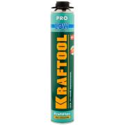 Пена KRAFTOOL  KRAFTFLEX PREMIUM PRO LOW профессиональная полиуретановая, для монтажного пистолета, всесезонная, SVS, 800мл