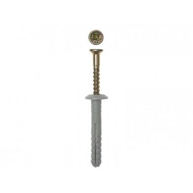 Дюбель-гвоздь ЗУБР полипропиленовый, грибовидный бортик, 6x80мм, ТФ5, 70шт