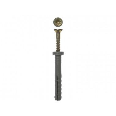 Дюбель-гвоздь ЗУБР полипропиленовый, цилиндрический бортик, 6x80мм, ТФ6, 5шт