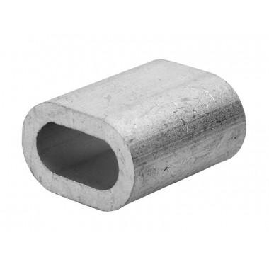 Зажим троса ЗУБР DIN 3093 алюминиевый, 3мм, ТФ5, 100 шт