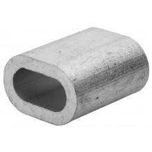 Зажим троса ЗУБР DIN 3093 алюминиевый, 8мм, ТФ5, 25 шт
