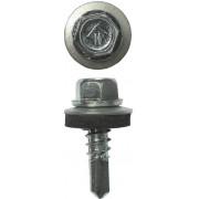 Саморезы ЗУБР для крепления кровельных материалов к металлическим конструкциям, оцинкованные, 5,5 х 25 мм, 1800шт
