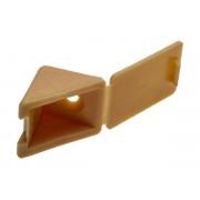 Уголок мебельный ЗУБР с шурупом, цвет сосна, 4,0x15мм, ТФ6, 4шт