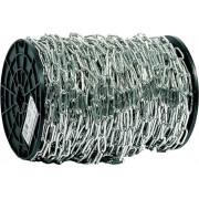 Цепь ЗУБР длиннозвенная, DIN 763, оцинкованная сталь, d=4мм, L=70м