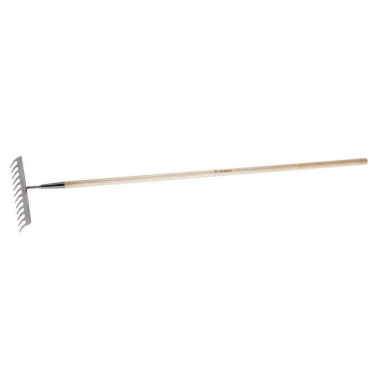 """Грабли ЗУБР """"ЭКСПЕРТ"""" из нержавеющей стали, деревянный черенок из ясеня, 12 прямых зубцов, 300х90х1460мм"""