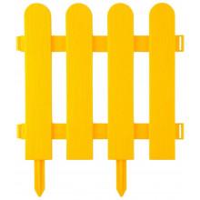 """Забор декоративный GRINDA """"ШТАКЕТНИК"""", 29x224см, желтый"""