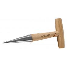 """Конус ЗУБР """"ЭКСПЕРТ"""" посадочный из нержавеющей стали, деревянная ручка из ясеня, 125x35x290мм"""