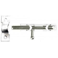 """Шпингалет накладной стальной """"ЗТ-19305"""", малый, покрытие белый цинк, 65мм"""