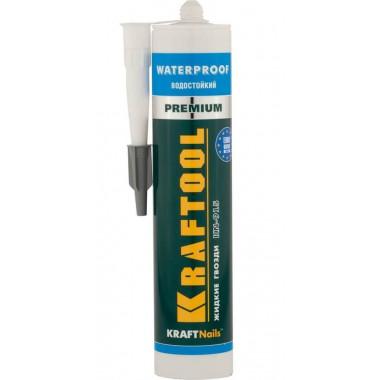 Клей монтажный KRAFTOOL KraftNails Premium KN-915, водостойкий с антисептиком, для ванн и душевых (310мл)