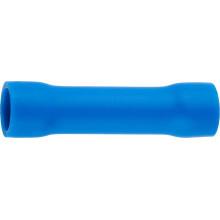 Гильза СВЕТОЗАР соединительная, изолированная, синяя, сечение кабеля 1,5-2,5мм2, 27А, 10шт