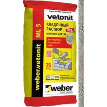 Weber.vetonit ML 5 «Nattas 150» Кладочный раствор кремово-белый (25 кг)