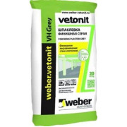Weber.Vetonit VH Шпаклевка финишная цементная влагостойкая серая (20 кг)