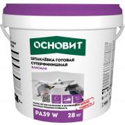 Основит PA 39 W ЭЛИСИЛК Шпаклёвка готовая суперфинишная белая (28 кг)
