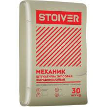 Волма Stoiver Механик Штукатурка гипсовая выравнивающая МН (30 кг)