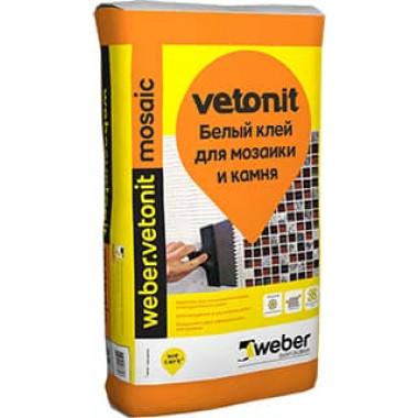 Weber Vetonit «Mosaic» Клей для мозаики и камня белый (25 кг)