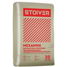 Волма «Stoiver Механик» Смесь сухая строительная штукатурная на гипсовом вяжущем белая (30 кг)