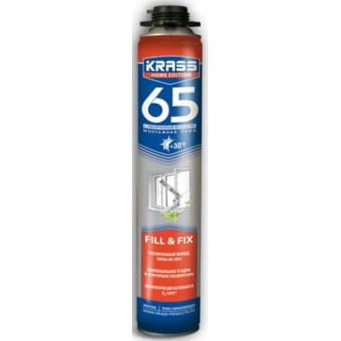 Krass Home Edition 65 Пистолетная монтажная пена (0,84 л)