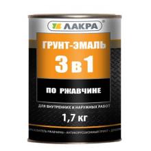 Лакра Грунт-эмаль 3 в 1 Серый (15 кг)