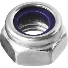 Гайка Зубр «Мастер» DIN 985 самостопорящаяся, с нейлоновым кольцом, класс прочности 8, оцинкованная, M6 (5 кг)