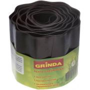 Лента бордюрная Grinda, цвет коричневый (20см х9 м)