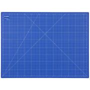 Коврик Зубр «Эксперт» непрорезаемый, 3мм, цвет синий (600х450 мм)