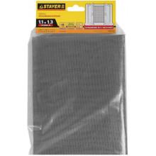 Сетка Stayer «Standard» противомоскитная, для окон, в индивидуальной упаковке, стекловолокно+ПВХ, серая (1,1х1,3 м)