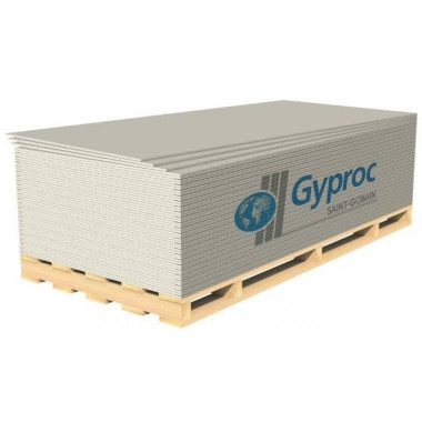 Гипсокартонный лист (ГКЛ) Gyproc Оптима 2500х1200х12.5мм