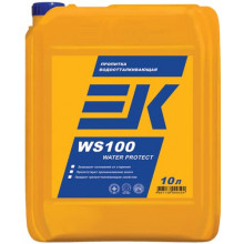 Пропитка EK WS100 WATER PROTECT водоотталкивающая для окончательной обработки поверхностей (10 л)
