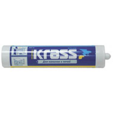 Krass герметик чёрный для каминов и печей - термо 1200С (300мл)