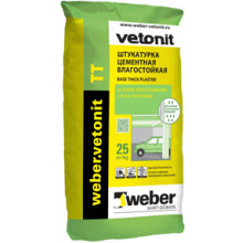 Weber Vetonit «TT» Штукатурка цементная влагостойкая (25 кг)