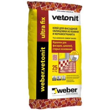 Weber Vetonit «Ultra Fix» Клей для крупноформатных материалов серый (25 кг)
