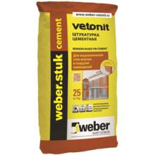 Weber Stuk «Cement» Водостойкая и морозостойкая цементная штукатурка (25 кг)