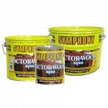 Антисептик SYMPHONY для деревянных поверхностей DOCTOR WOOD Aqua 2,7л ж/б - купить оптом, в розницу