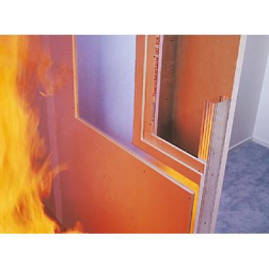 Knauf-Гипсокартон ГКЛО огнестойкий (12,5мм 1,2*2,5м)