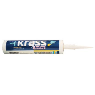 Krass «Sanitary» Герметик силиконовый санитарный беcцветный (0,31 л)