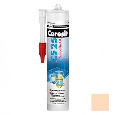 Затирка-герметик силиконовая Ceresit CS 25 Персик 0,28 л - купить оптом, в розницу
