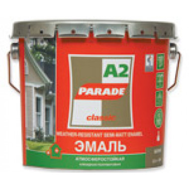 Parade А2 эмаль белая полуматовая База А (2,5 л)