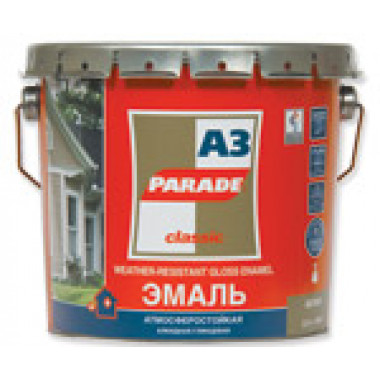 Parade А3 эмаль белая глянцевая (0,75л)
