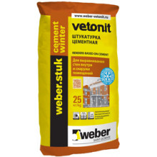 Weber Stuk «Cement Winter» Штукатурка цементная зимняя (25 кг)