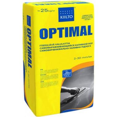 Kiilto «Optimal» Быстротвердеющий выравнивающий раствор для полов слоем 1-30 мм (25 кг)